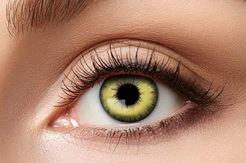Eyecatcher 84115141.984 - Farbige Fantasy Effekt Kontaktlinsen, Verrücktes Auge, Farblinsen, 12 Monate, Jahreslinsen, weiche Linsen, 2 Stück, Motivlinsen, Halloween, Karneval