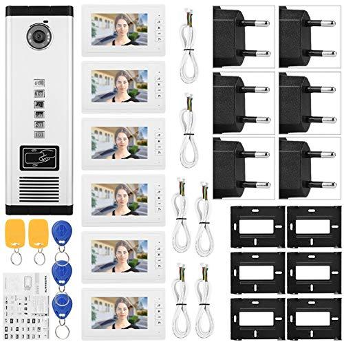 SALUTUYA Cámara infrarroja de Relleno con Seis monitores Cámara IR de Rendimiento Estable(100-240V European Standard)