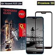 Huawei P20 Lite Panzerglas Schutzfolie, Hohe Qualität 3D Gehärtetem Glass 9H Härte /Ultra Klar/Anti-Kratzer/Einfache Installation/, Displayschutz Gehärtetem Glass Displayschutzfolie Folie für Huawei P20 Lite