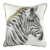 Evans Litchfield Funda de cojín Safari Zebra, Blanco, 43 x 43cm