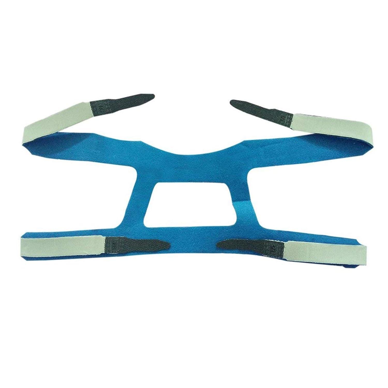 ユニバーサルデザインヘッドギアコンフォートジェルフルマスク安全な環境の交換用CPAPヘッドバンドなしPHILPS - グレー&ブルー