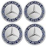 Generic 4 piezas de 75 mm de repuesto para llantas de Mercedes Benz, tapas de llantas