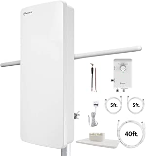 Antop at-800SBS HDTV&Fm Amplified Antenna with Noise-Free 4G LTE Filter & Smart Boost System for Dual Connectivity, Suppor...