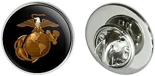 GRAPHICS & MORE Marines Golden Logo on Black Licensed 0.75