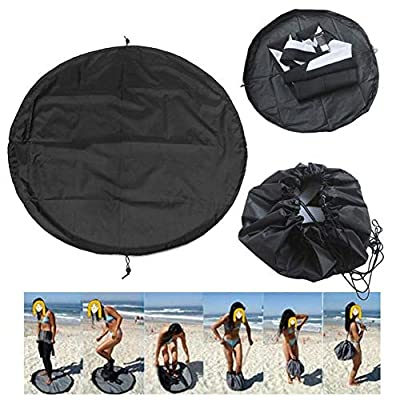 Surf Wetsuit Changing Mat,Waterproof Surf Bag Nylon Wet Bag Beach Swimming Clothes Storage Bag with Drawstring for Surfers Triathletes Swimmers