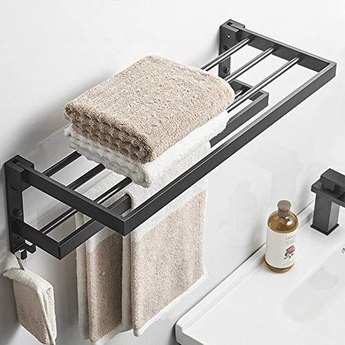 Espacio de aluminio cuadrado baño baño baño toalla de pared toalla de almacenamiento de almacenamiento de baño-60 cm