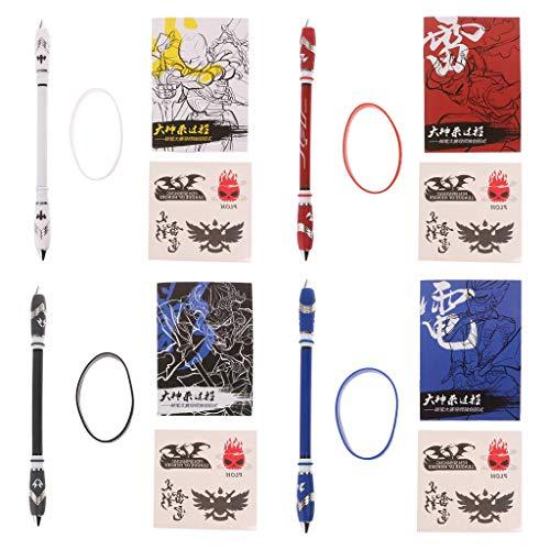 Bussien - Bolígrafo giratorio con revestimiento antideslizante para jugar con tinta azul popular y práctico, práctico y fácil de usar