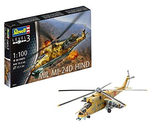 Revell- Mil Mi-24D Hind Maqueta Helicóptero,10+ Años,