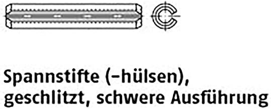 Spanpennen ISO 8752 veerstaal 8 x 16 VE=S 500 stuks