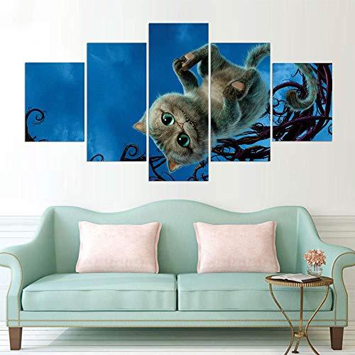 Painting Wall Hd druk op de spiegel-katten-afbeelding-poster kunstschildersdoek No Frame 30 x 40 30 x 60 30 x 80 cm.