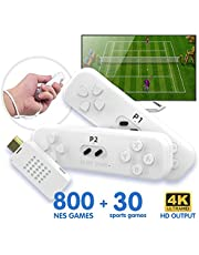 4K HD Video Motion Perception Game Console, 30 Interactive Body Games, 800 NES Format Games, Classic Mini HD Doubles Game Machine Y2 FIT Tv Game Machine