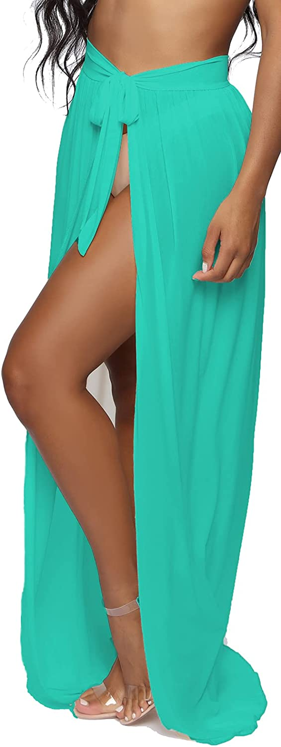 LaiyiVic Swimsuit Cover Ups for Women Sexy Casual See Through Sheer Long Maxi Dresses for Swimwear