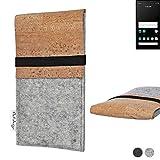 flat.design Handy Hülle SAGRES für Carbon 1 MKII handgefertigte Handytasche Filz Tasche Schutz Hülle fair Kork