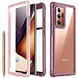Redpepper for Galaxy Note 20 Ultra Case, Built-in Screen Protector Full Body Heavy Duty Shockproof Cover for Samsung Galaxy Note 20 Ultra 6.9 inch (Pink/Clear)