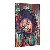 Lauryn Hill Leinwand-Poster, Schlafzimmer, Dekoration,