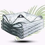 HHYHOME Lona Transparente,Lona Resistente Impermeable,Lona De PVC para Todas Las Estaciones,con Ojales,para Balcones,Techos,Piscinas,Granjas,Jardines,Garajes,2 * 4m