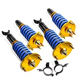 MOSTPLUS Full Coilovers Struts Compatible for Honda Prelude 1992 1993 1994 1995 1996 1997 1998 1999 2000 2001 Adjustable Height Suspension Kit Assembly (Set of 4)