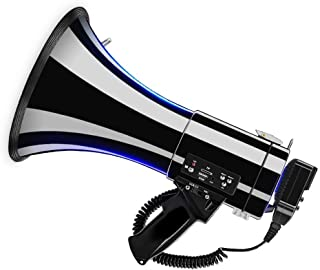 Infactory megafono: Megafono MP3 con Registrazione vocale 50 Watt Megafoni con MP3 Giocatori Riproduzione da USB SD e AUX