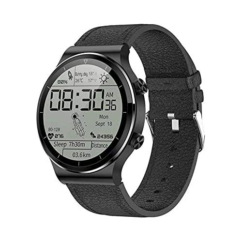 ZGLXZ Reloj Inteligente Ratio Cardíaco Y Monitoreo De Presión Arterial Reloj Deportivo 1.28 Pulgadas Pantalla De Reloj Inteligente Impermeable para Android iOS,A