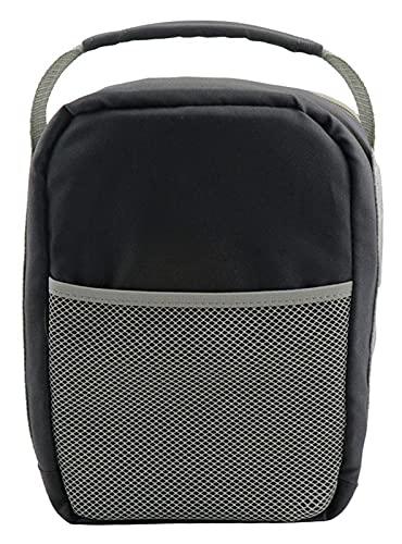 LHY Camping Reisekochgeschirr Aufbewahrungstasche, tragbare Reisetasche, geeignet für Strand, Park oder Picknick, Wandern, Grill, Camping, Outdoor-Kochen, Indoor oder Outdoor, schwarzer Stil