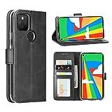 Cresee Google Pixel 5 Hülle, PU Leder Wallet Flip Cover [3