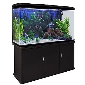 MonsterShop 300 Liter Aquarium Komplettset mit Vitrine und Kies 143.5cm H x 120.5cm B x 39cm T