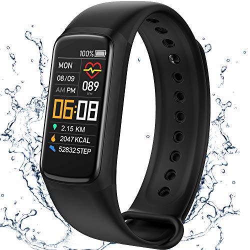 Smartwatch,Reloj Deportivo,Fitness Tracker,Rastreador de Actividad, Reloj Deportivo de Salud con Monitor de Frecuencia Cardíaca y Sueño, Pulsera Inteligente,Contador de Calorías,IP67 a Prueba de Agua