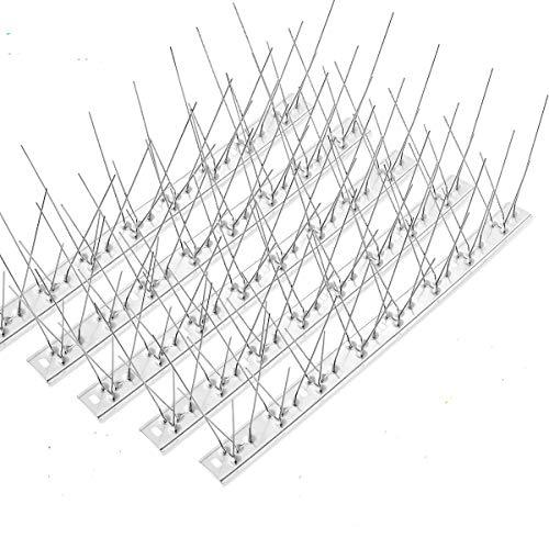 HellDoler Edelstahl Taubenabwehr Spikes,15 Packungen ca 5m Abdeckung - Edelstahl-Vogelspikes für Zaunvogelabwehrsysteme für Veranda