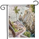 BEIVIVI Garden Flag, Custom Double Sided Seasonal Garden Flag,La Quebrada (The Famous Divers' Cliff) of Acapulco, Mexico,Garden Flag for Party Holiday Home Garden Decor,Linen 20x36inch