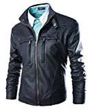 MR. R Men's PU Leather Motorcycle Jacket Black 4XL (Tag)