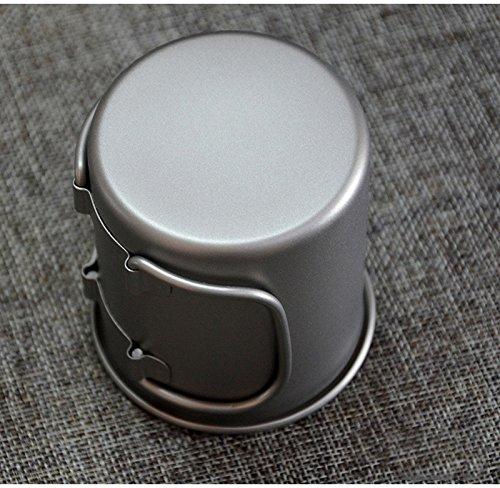 Keith『折りたたみハンドル付き単層チタンマグ(Ti3200)』