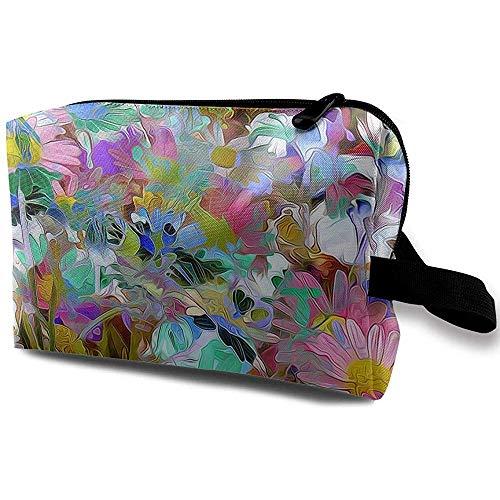 Voyage Cosmétique Sac Portable Sac À Main Couleur Fleur Fleur Trousse De Toilette Petit Maquillage Sacs Cas Organisateur