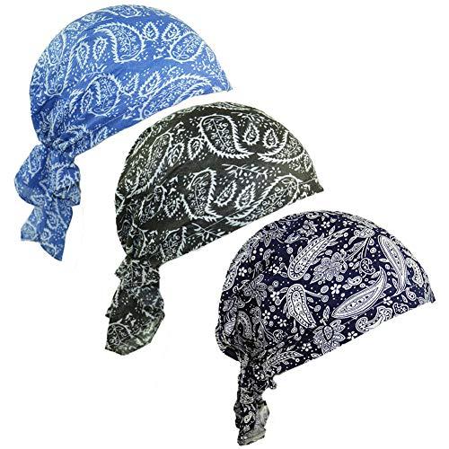 ZYCC Sombrero unisex de la bufanda de la cabeza Bandana algodón impreso Turbante Headwear para el cáncer, la quimioterapia, la pérdida del pelo