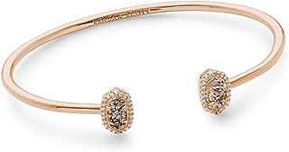 Kendra Scott Calla Cuff Bangle Bracelet in Rose Gold Drusy and Rose