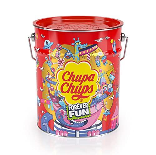 Chupa Chups Caramelo con Palo de Sabores Variados, 150 x 12g