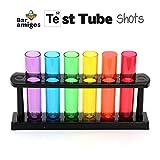 CKB LTD - Bar Amigos - Set di bicchieri per liquore a forma di fiale da laboratorio, in pl...