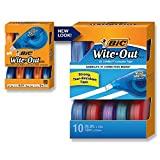 BIC Wite-Out Brand EZ Correct Correction Tape, 10-Count
