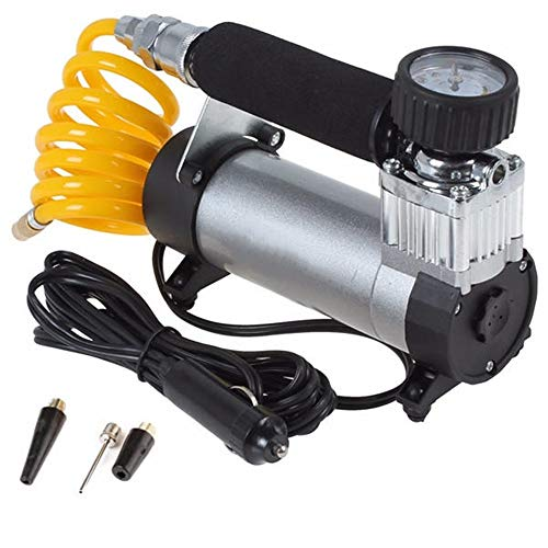 Auto Fietsen Banden Inflator Car Compressor Tire luchtpomp 12V Electric draagbare pomp for Auto Motor Off-road Vehicle Car Bike en Andere Springkussens (Color : Silver, Size : One size)