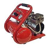 Compresor Portátil Silencioso Italiano Pintuc Modelo SIL 750/9 + Manguera de Espiral de 6 metros con enchufes rápidos...