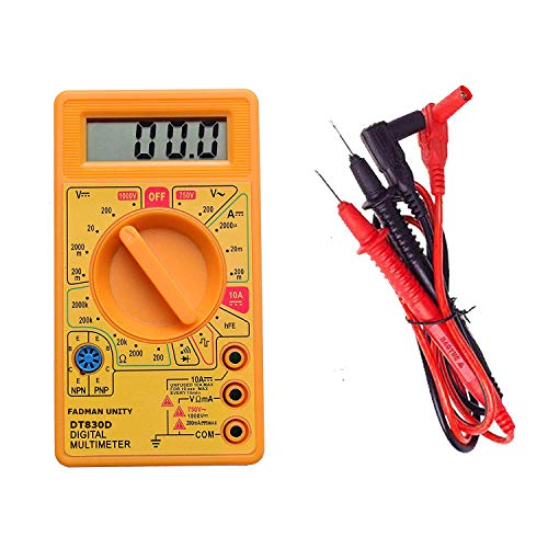 FADMAN DT-830D SMALL DIGITAL MULTIMETER YELLOW