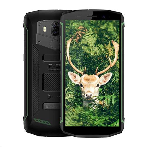 "Blackview BV5800 Pro, Móvil Resistente de 5.5""HD/18:9, 16GB ROM, Camara de 13MP, Bateria de 5580mAh, Proteccion IP68, Dual SIM, Android 8.1 Movil Todoterreno, NFC, GPS, GLONASS"