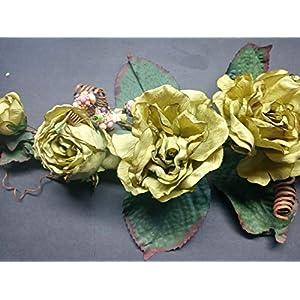 gorgeous dried look rose swags. silk flowers arrangements green silk flower arrangements