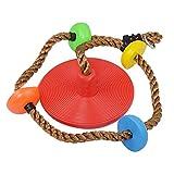 KAIYAN - Corda per altalena per bambini, con plateau e disco oscillante, per bambini, con moschettone e cinghia per albero da 4,8 e 5 m