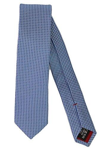 Olymp Herren Seidenkrawatte Slim Struktur- hellblau / weiß 1798 00 11