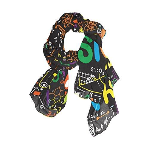 Cachecol Cooper Girl Physics Doodle de seda para mulheres e meninas