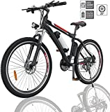 Angotrade 2021 New Upgraded 26 inch Electric Bike Mountain E-Bike 21 Speed 36V 8A Removable Lithium Battery Electric Bicycle for Adult...