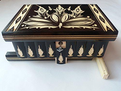 Caja puzzle grande enorme del rompecabezas de la caja negro, caja secreta,...