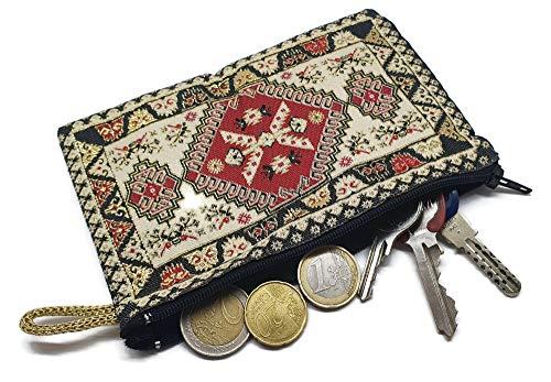 MYSTIC JEWELS By Dalia-Geldbörse für Karten, Schlüssel – Motiv: Teppich – Türkisch, traditionell, 15 x 10 cm