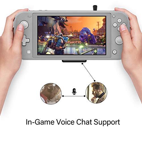 WeChip Route Air Voice Chat Bluetooth-Audio-USB-Transceiver-Adapter NS07 Pro für Nintendo Switch/Switch Lite / PS4 / PC, 5 mm, verzögerungsfrei, Plug-and-Play, Schwarz