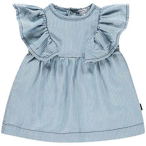 Noppies Baby-Mädchen G Dress ss Carson City Y/D STR Kleid, Blau (Striped Washed Light P496), (Herstellergröße: 56)